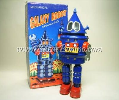 RT0140 - ROBOT GALAXY in latta carica a molla