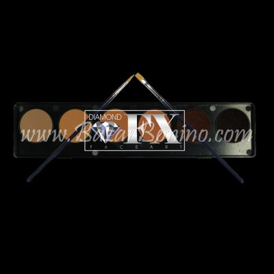 FX06S – TAVOLOZZA AQUACOLOR 6 COLORI TINTA CARNE