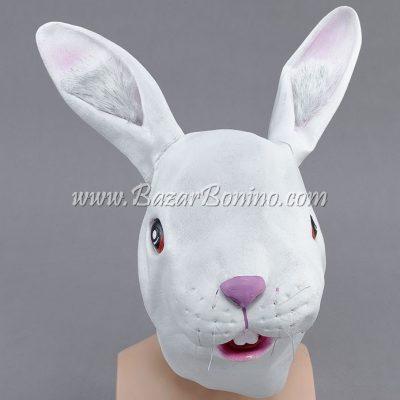 BM0250 - Maschera Coniglio Bianco in Lattice