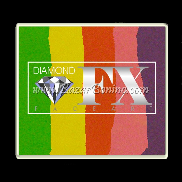 90 Raving Rainbow SPLIT CAKES Big size Diamond Fx