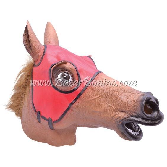 BM0464 - Maschera Cavallo da Corsa in Gomma-Lattice