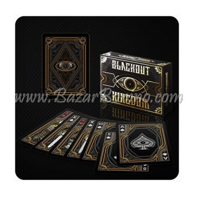 MV0115- Mazzo Carte Blackout Kingdome Gold