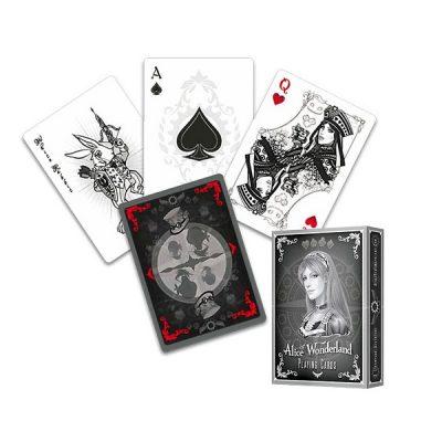 MV0260 - Mazzo Carte Alice of Wonderland Argento