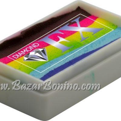 59 - Bright Rainbow SPLIT CAKES Medium size Diamond Fx