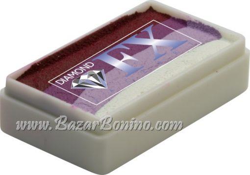 61 - Purple Rose SPLIT CAKES Medium size Diamond Fx
