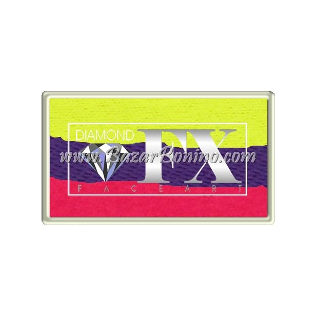 66 - Neon Disco CAKES Medium size Diamond Fx
