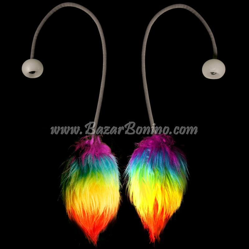 JG4546 - Flowtoys Fuzzy Podpoi Covers Rainbow