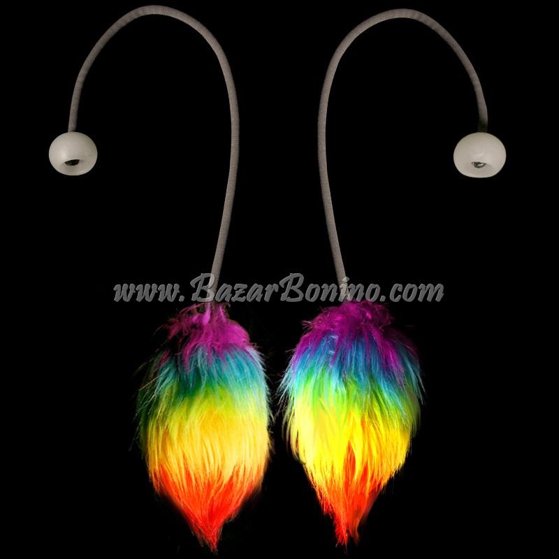 JG4546 - Flowtoys Fuzzy Podpoi Covers Rainbow
