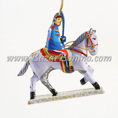 AS0430 - CAVALIERE Decorativo in Latta