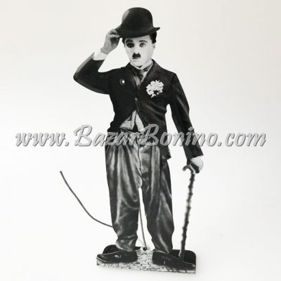 FP0020 - Charlie Chaplin in Latta con Fiore