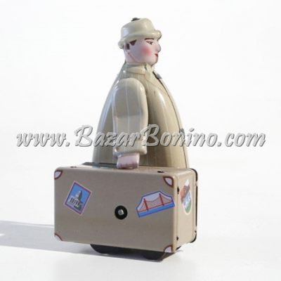 FP0030 - Viaggiatore con Valigia in latta