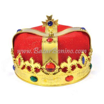 BH316 - Corona Re Dorata+Velluto Rosso