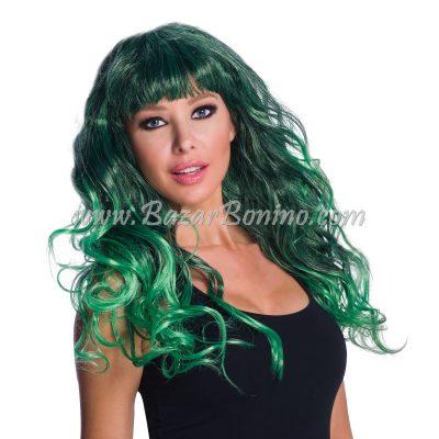 WGBW571 - Parrucca Verde Bicolore