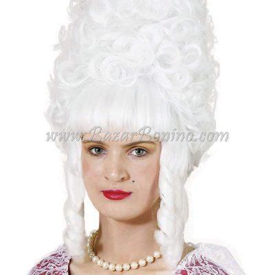 WGBW703 - Parrucca Bianca Lady Pompadour