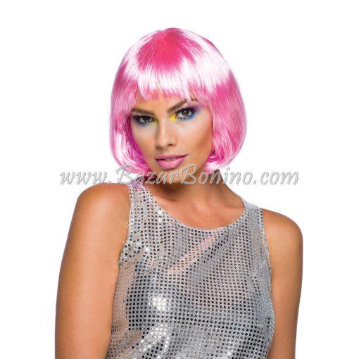 WGBW887 - Parrucca Rosa Corta Frangia