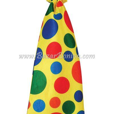 CBA817 - Cravatta Jumbo Giallo Pois