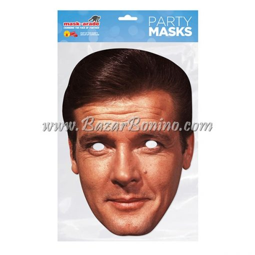 CRMOOR - Maschera Cartoncino Roger Moore