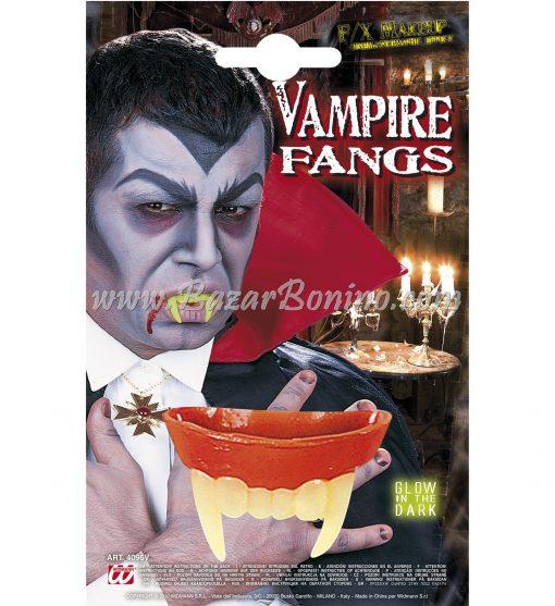 D4096V - Denti Vampiro Fosforescenti