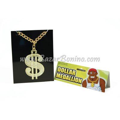 GBA510 - Collana con Medaglia Dollaro