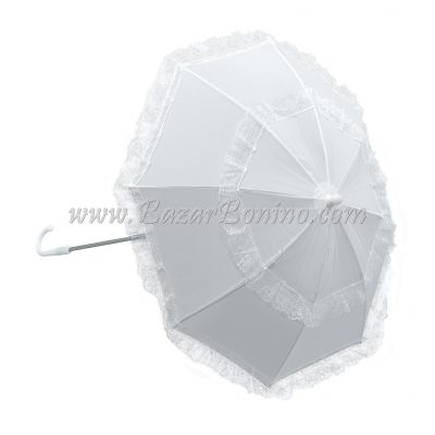 OBA774 - Parasole Bianco Manico Lungo