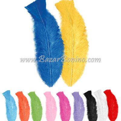 P0500- Piume Colorate Cf.50 Pz. Cm.10