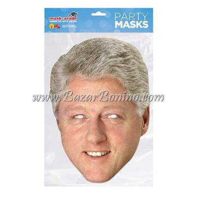 PBCLIN - Maschera Cartoncino Bill Clinton