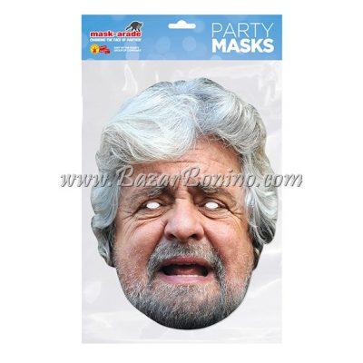 PBGRIL - Maschera Cartoncino Beppe Grillo