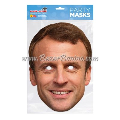 PEMACRO - Maschera Cartoncino Emmanuel Macron