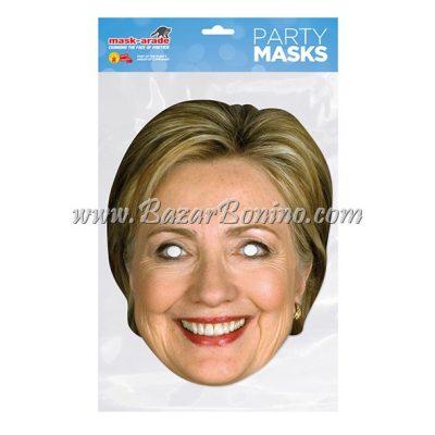 PHCLIN - Maschera Cartoncino Hillary Clinton