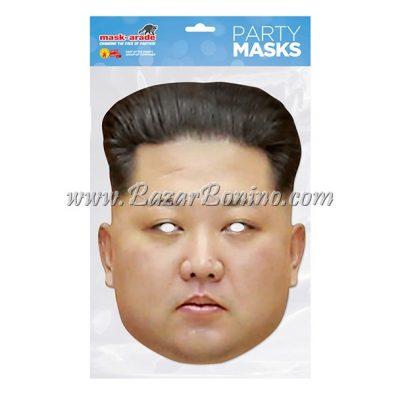 PKJONG - Maschera Cartoncino Kim Jong Un