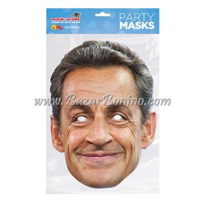 PNSARK - Maschera Cartoncino Nicolas Sarkozy