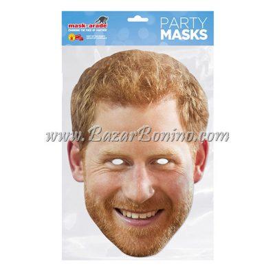 RHARRY - Maschera Cartoncino Prince Harry