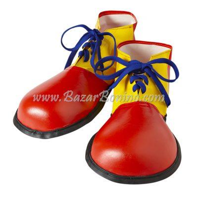S9146P - Scarpe Clown Rosso Giallo