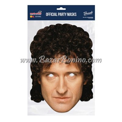 SQBMAY - Maschera Cartoncino Brian May Queen