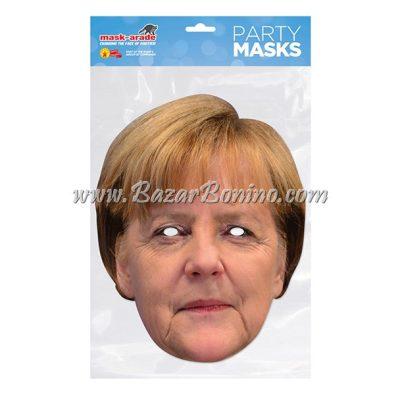 PAMERK - Maschera Cartoncino Angela Merkel