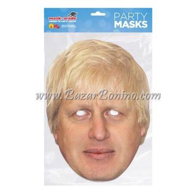 PBORIS - Maschera Cartoncino Boris Johnson