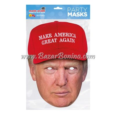 PDTRUMM - Maschera Cartoncino Donald Trump