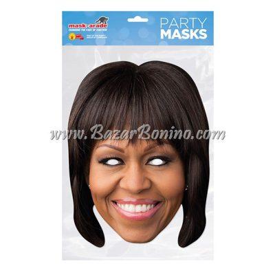 PMOBAM - Maschera Cartoncino Michelle Obama