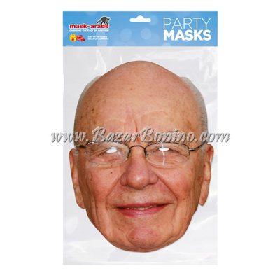 PRMURD - Maschera Cartoncino Rupert Murdoch