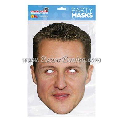 TMSCHU - Maschera Cartoncino Michael Schumacher