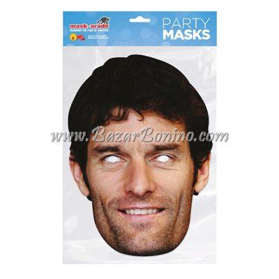 TMWEBB - Maschera Cartoncino Mark Webber