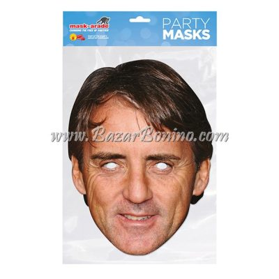 TRMANC - Maschera Cartoncino Roberto Mancini