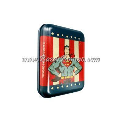 CM0050 - Mazzo carte Cartamundi Superman Tin Box