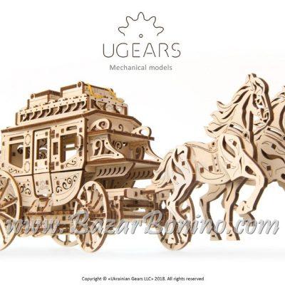 Ugears Stagecoach Mechanical Model Kit