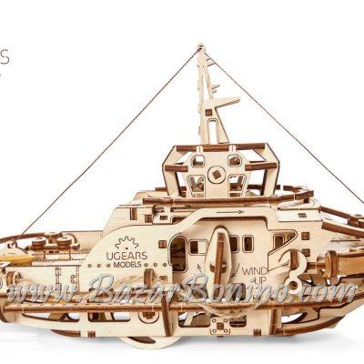 Ugears Tugboat Mechanical Model Kit