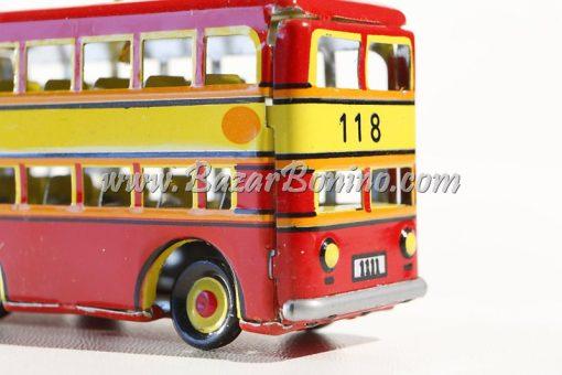 CR0300 - Bus Pompieri Decorativo in Latta
