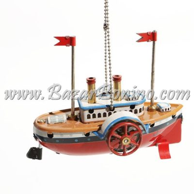 TB0150 - Vaporetto Decorativo in Latta