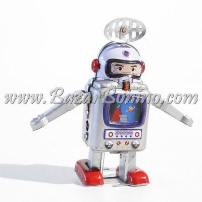 RT0011 - Robot Astronauta Argentato in Latta