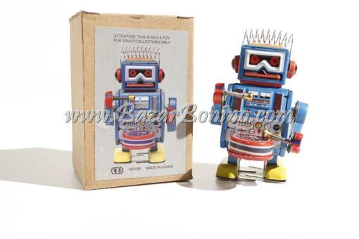 RT0047 - Robot Tamburo in latta con carica a molla